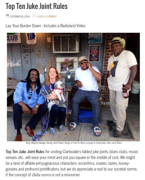 Top Ten Juke Joint Rules